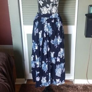 {Coldwater Creek} Floral Maxi Skirt
